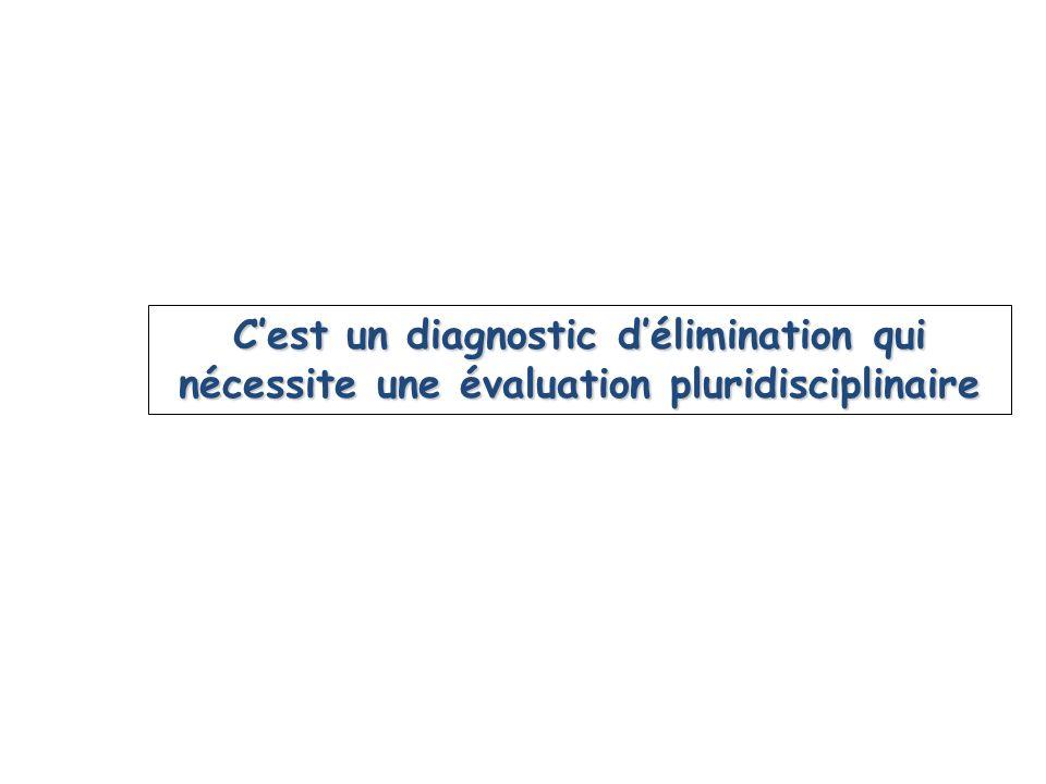 Cest un diagnostic délimination qui nécessite une évaluation pluridisciplinaire