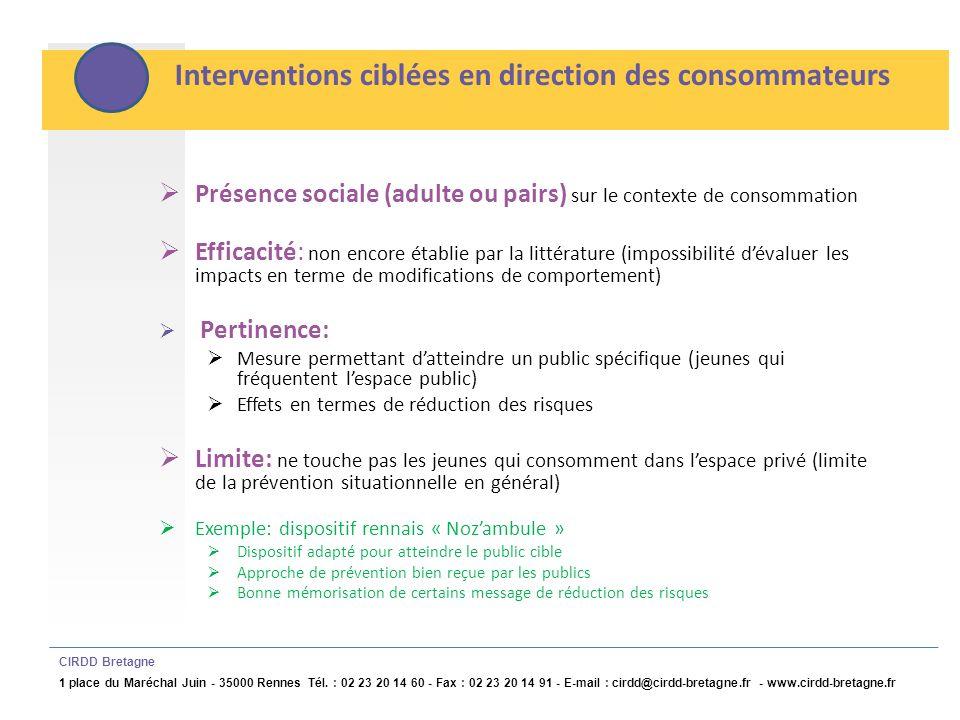 Limites et conditions defficacité des mesures structurelles CIRDD Bretagne 1 place du Maréchal Juin - 35000 Rennes Tél.