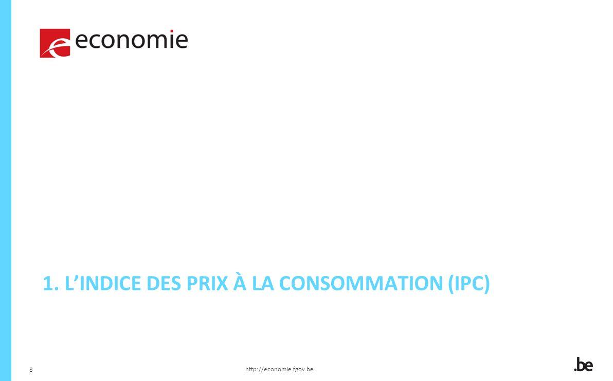 8 1. LINDICE DES PRIX À LA CONSOMMATION (IPC) http://economie.fgov.be 8