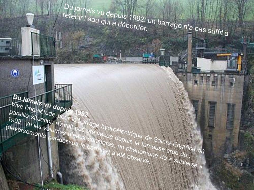 Du jamais vu depuis 1992 Vive linquiétude pour le barrage hydroélectrique de Sainte-Engrâce où pareille situation n'avait pas été vécue depuis la fame