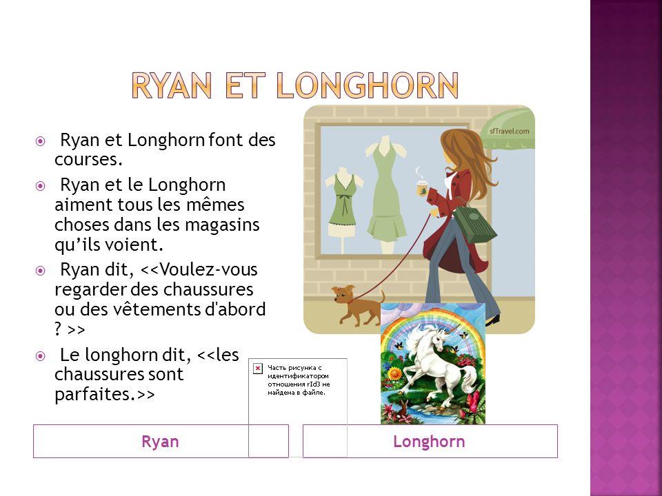 RyanLonghorn Ryan et Longhorn font des courses.