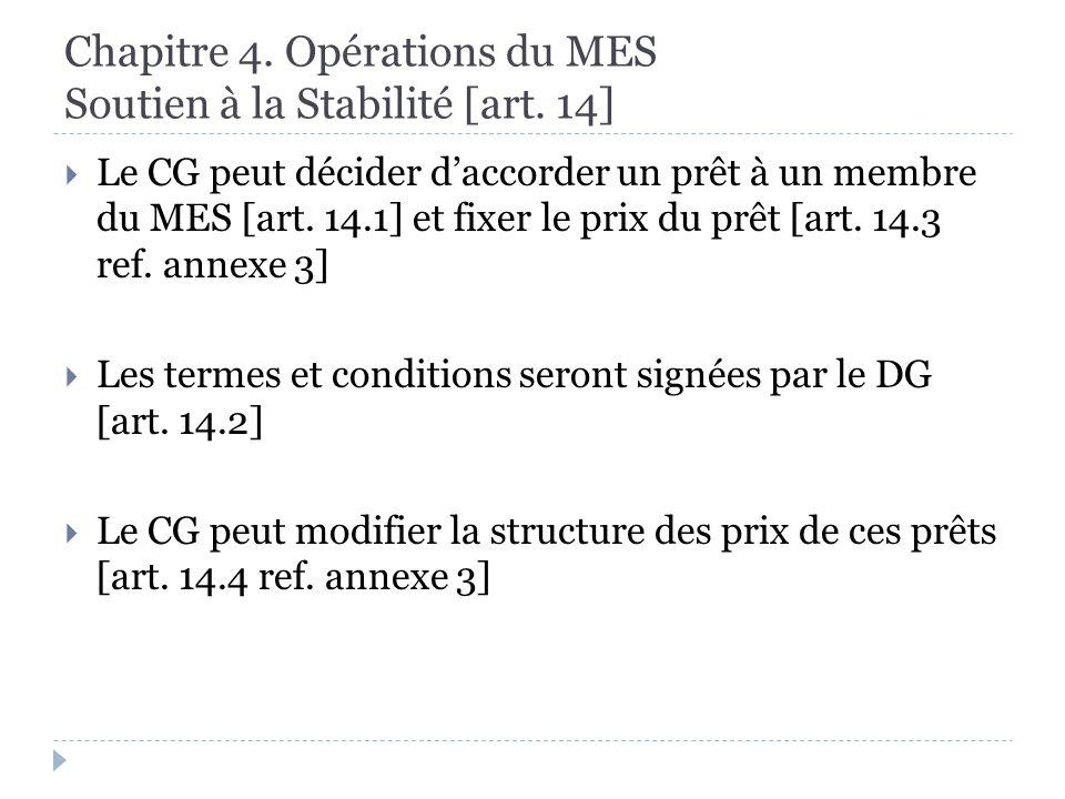 Chapitre 4. Opérations du MES Soutien à la Stabilité [art.