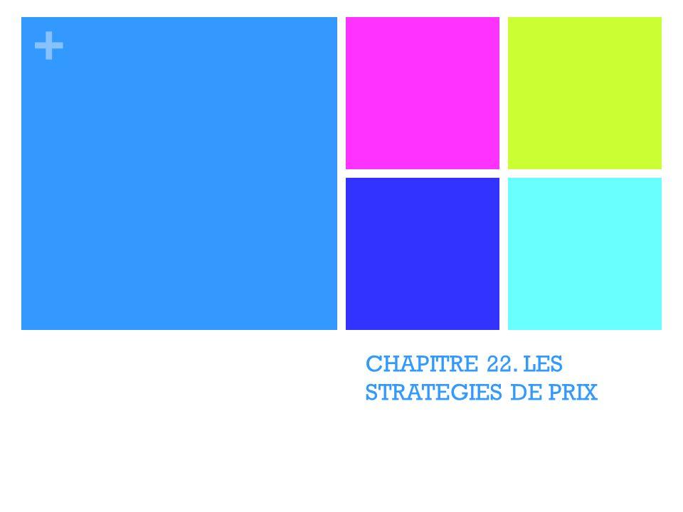 + CHAPITRE 22. LES STRATEGIES DE PRIX