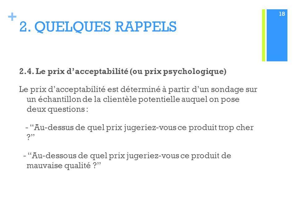 + 2.QUELQUES RAPPELS 2.4.