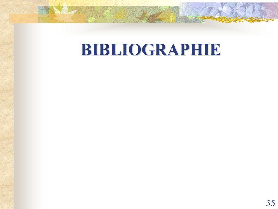 35 BIBLIOGRAPHIE