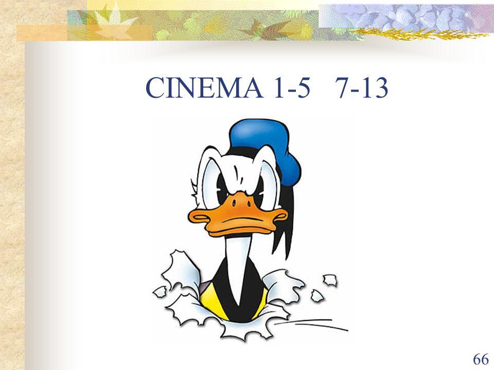 66 CINEMA 1-5 7-13
