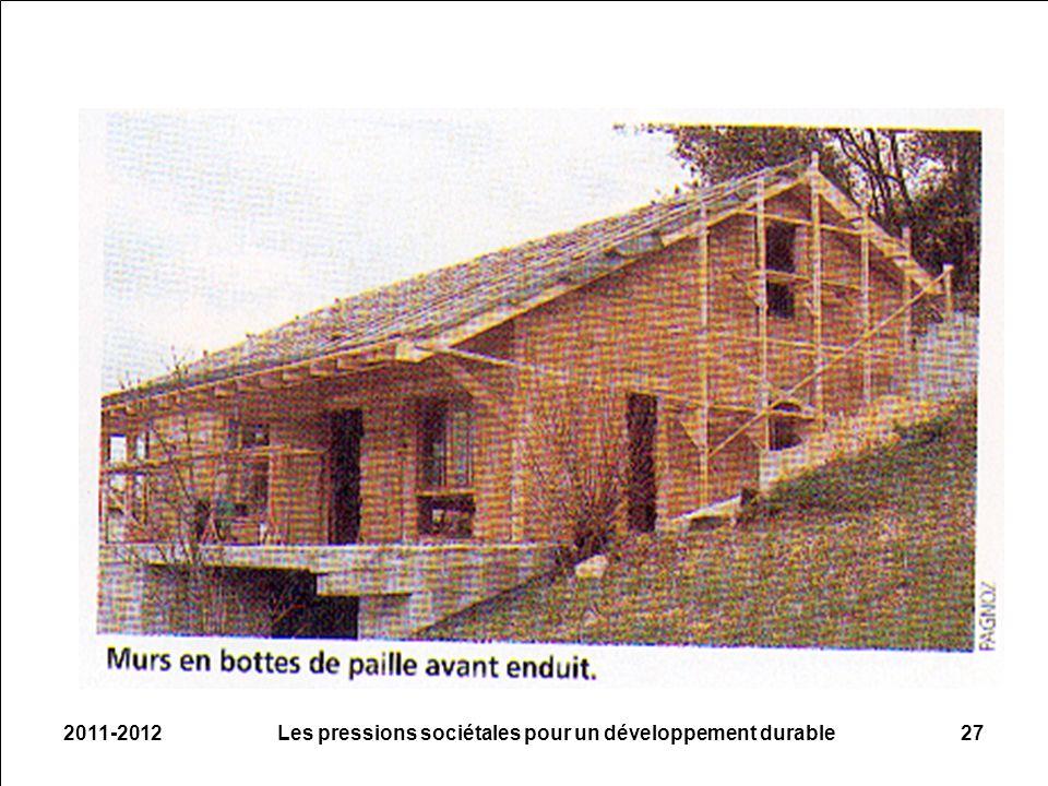 2011-2012Les pressions sociétales pour un développement durable27
