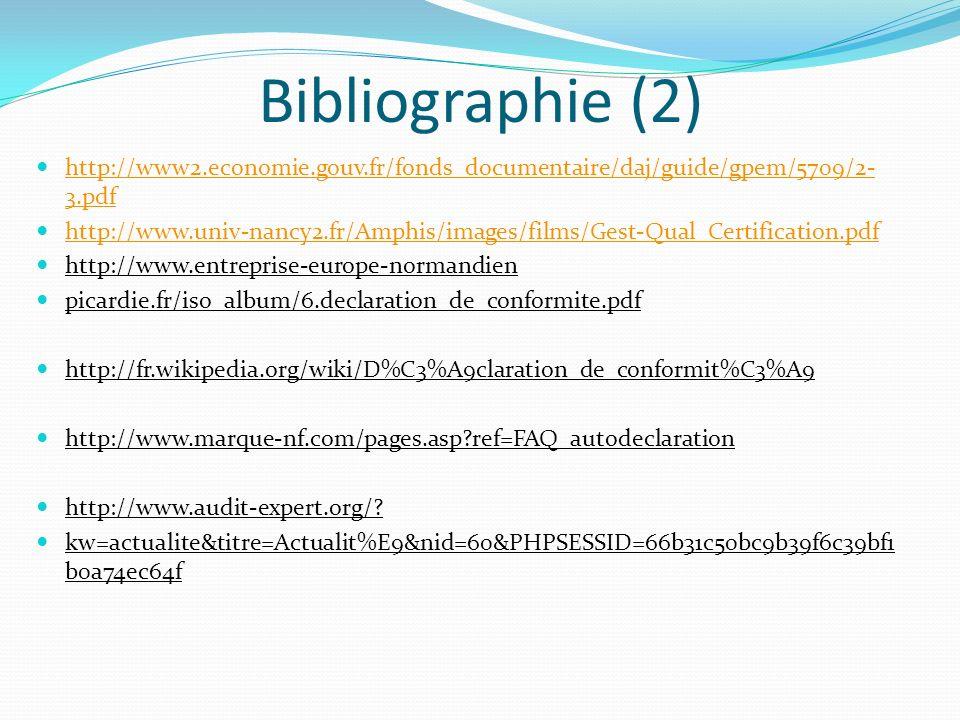 Bibliographie (2) http://www2.economie.gouv.fr/fonds_documentaire/daj/guide/gpem/5709/2- 3.pdf http://www2.economie.gouv.fr/fonds_documentaire/daj/gui