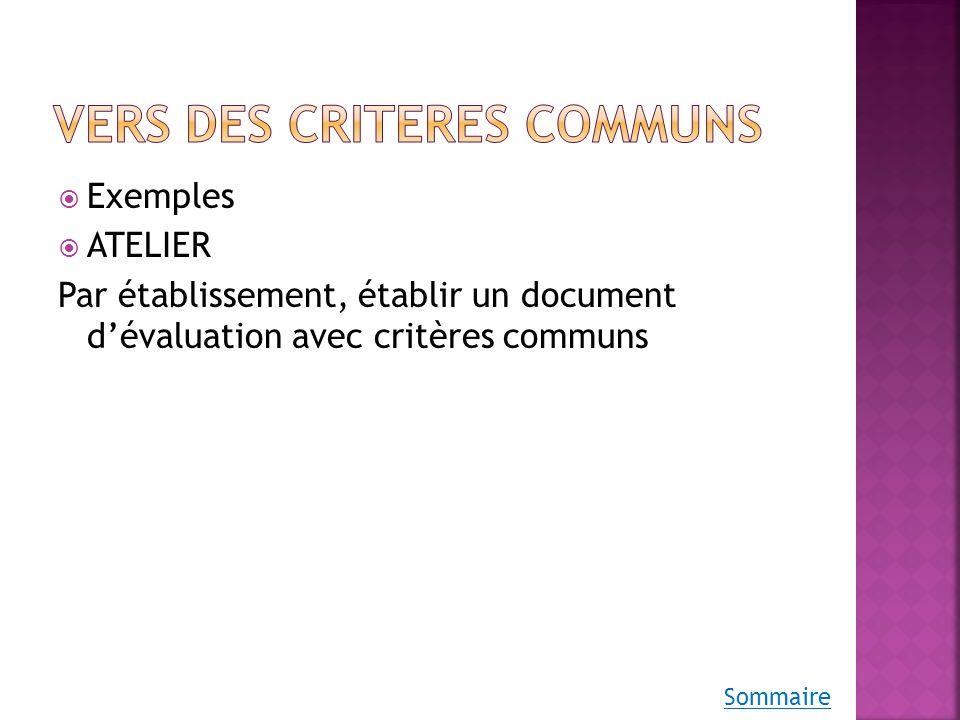 Exemple 1 : exposé svt/phys Exemple 2 : critères communs Delalande Exemple 3 : graphique Sommaire