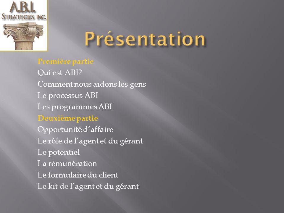 Bienvenue à cette présentation Opportunité daffaire pour les Agents et Gérants Présenté par Jean Poirier