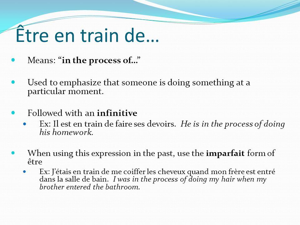 Révisons… Traduisez les phrases suivantes en français: I went out with friends.