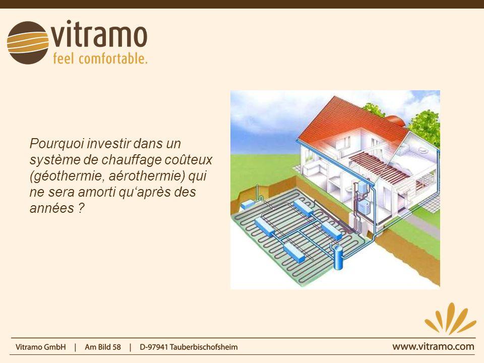 Pourquoi investir dans un système de chauffage coûteux (géothermie, aérothermie) qui ne sera amorti quaprès des années ?