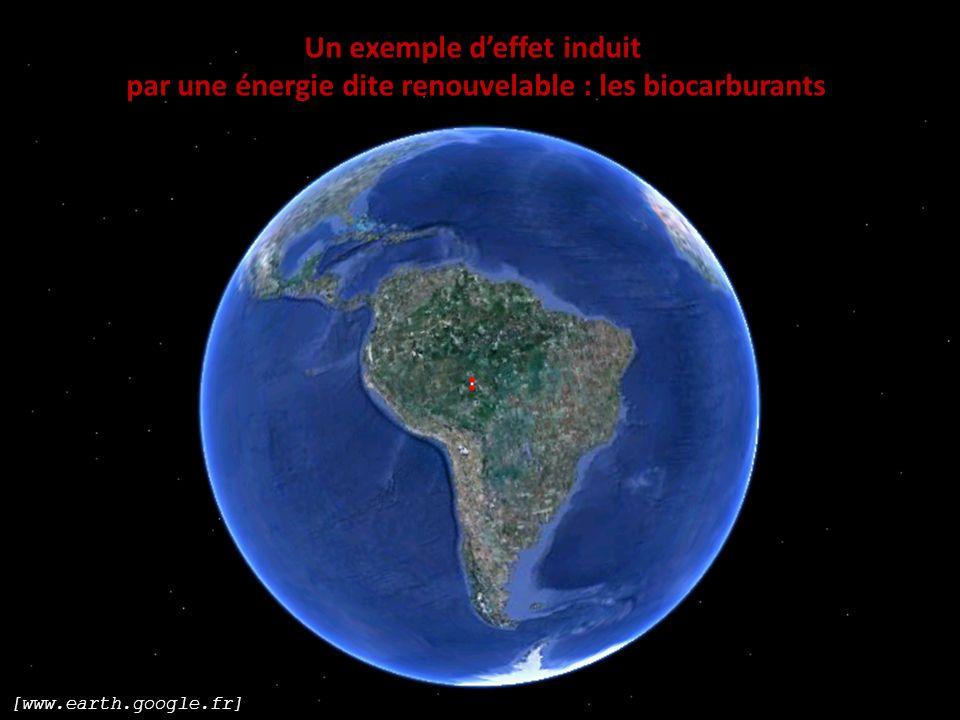 [www.earth.google.fr] Un exemple deffet induit par une énergie dite renouvelable : les biocarburants