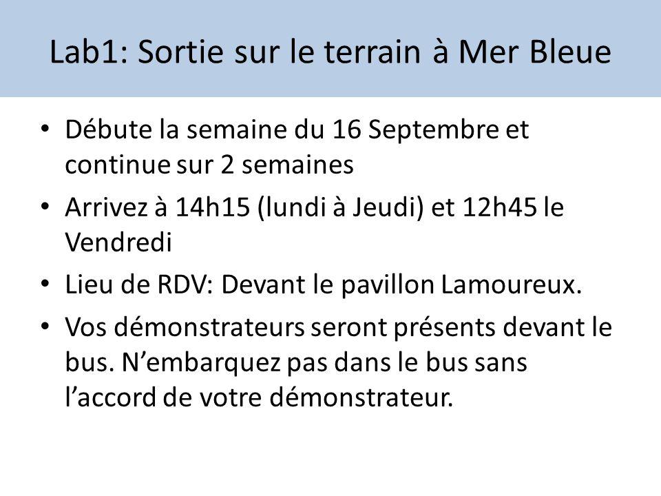 Débute la semaine du 16 Septembre et continue sur 2 semaines Arrivez à 14h15 (lundi à Jeudi) et 12h45 le Vendredi Lieu de RDV: Devant le pavillon Lamo