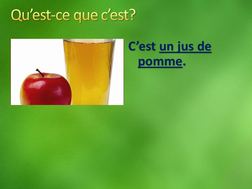 Cest un jus de pomme.