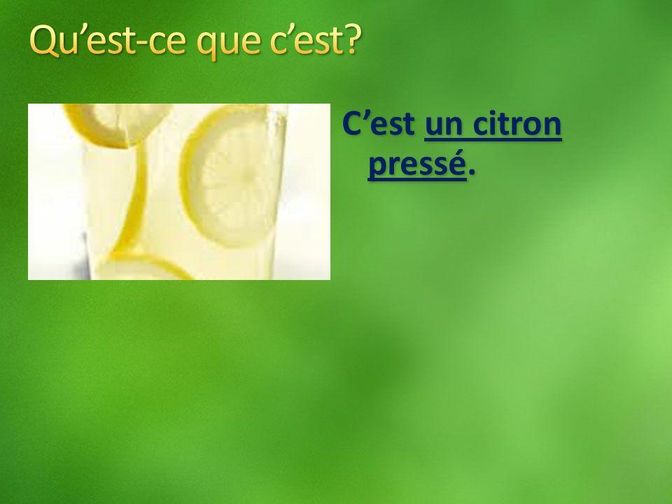 Cest un citron pressé.