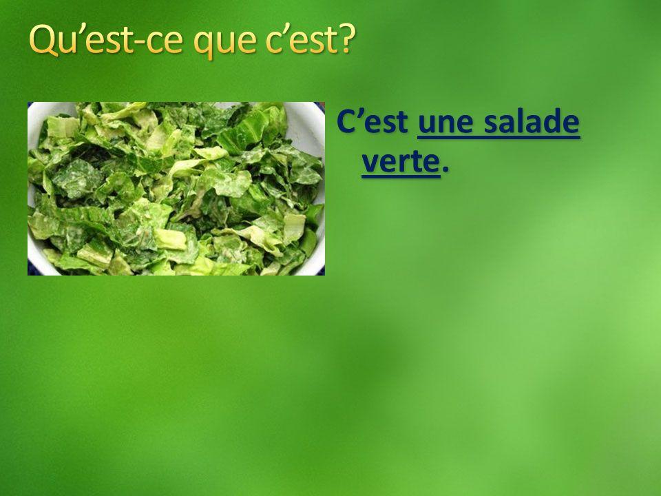Cest une salade verte.