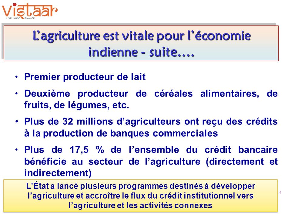 Premier producteur de lait Deuxième producteur de céréales alimentaires, de fruits, de légumes, etc.