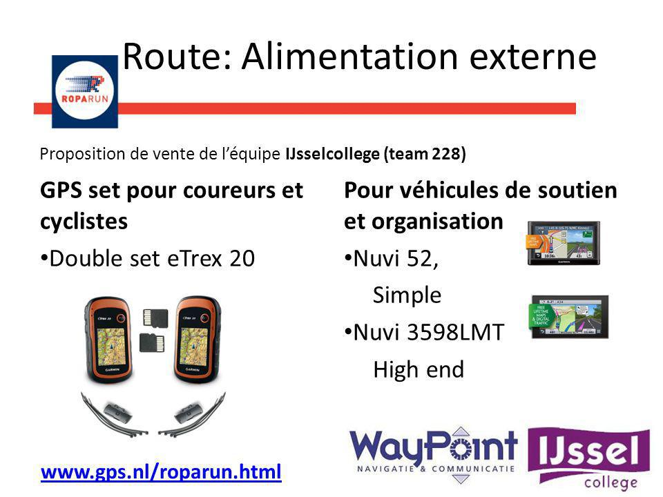Route: Alimentation externe GPS set pour coureurs et cyclistes Double set eTrex 20 Pour véhicules de soutien et organisation Nuvi 52, Simple Nuvi 3598
