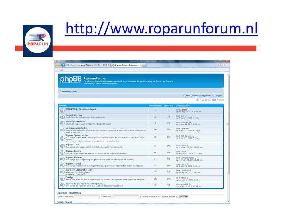 http://www.roparunforum.nl