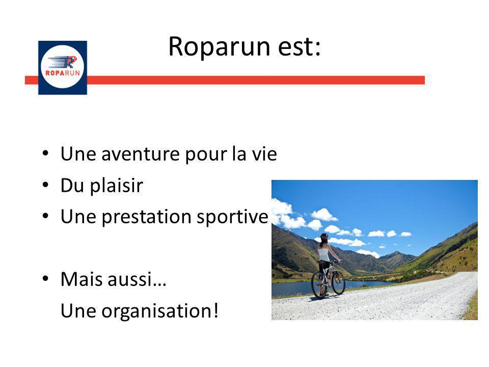 Roparun est: Une aventure pour la vie Du plaisir Une prestation sportive Mais aussi… Une organisation!