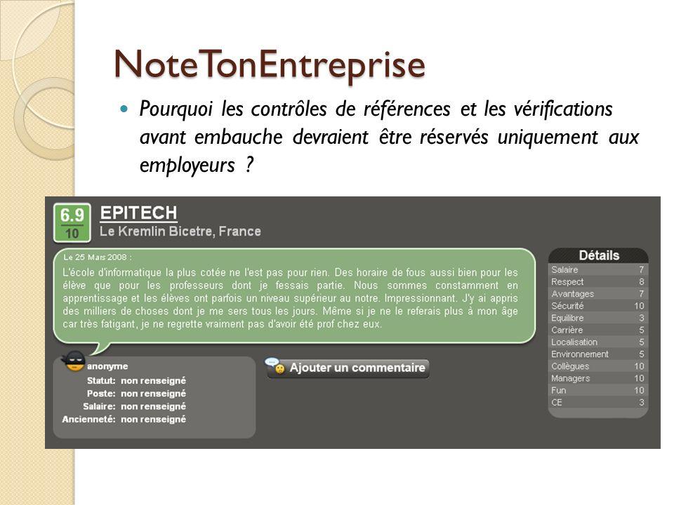 NoteTonEntreprise Pourquoi les contrôles de références et les vérifications avant embauche devraient être réservés uniquement aux employeurs ?