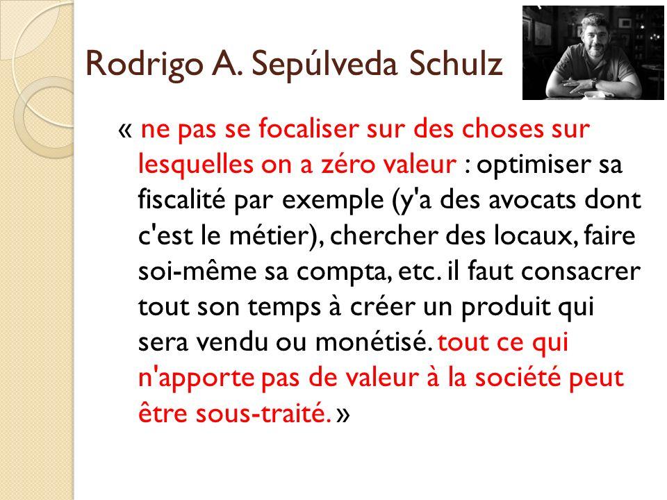 « ne pas se focaliser sur des choses sur lesquelles on a zéro valeur : optimiser sa fiscalité par exemple (y'a des avocats dont c'est le métier), cher