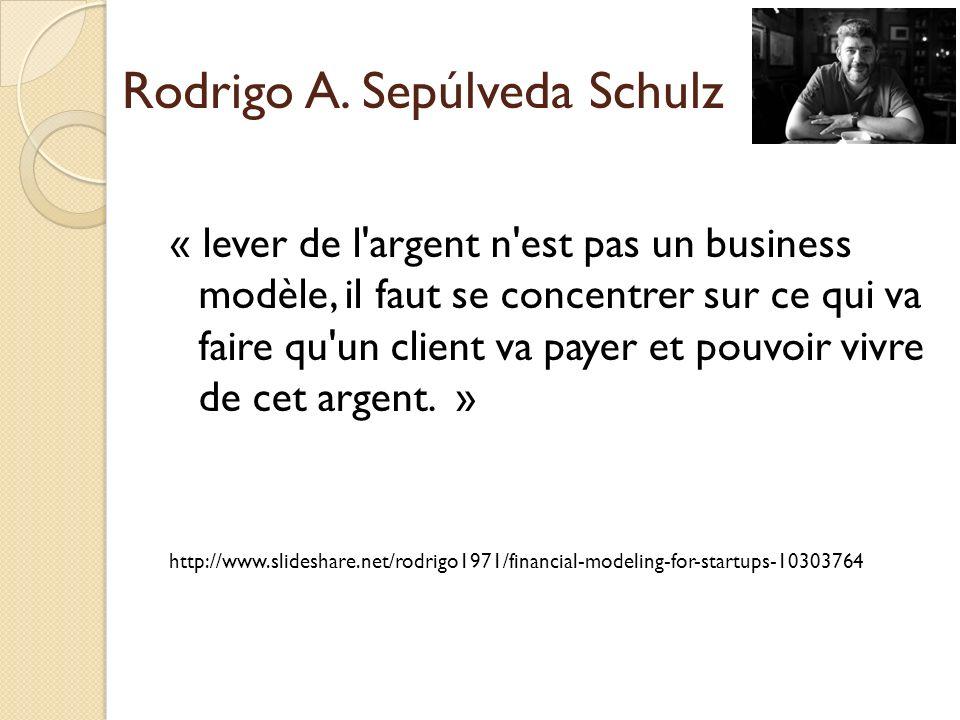 « lever de l'argent n'est pas un business modèle, il faut se concentrer sur ce qui va faire qu'un client va payer et pouvoir vivre de cet argent. » ht