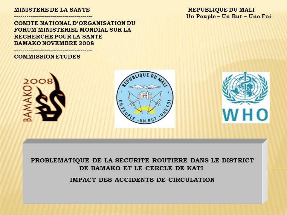 15.Niaréla (le chef du quartier de Niaréla et ses conseillers) ; 16.Le Commissariat de police de Kati (le commissaire chargé de la sécurité routière à Kati ); 17.La direction régionale de la protection civile au niveau du District de Bamako (avec les casernes de Bamako Coura et de Sogoninko ; 18.Le Comité de lutte contre les accidents de la route à Moribabougou 19.Les Assurances Sabunyuma 20.LAssurance, SONAVIE, 21.Les Assurances Lafia, 22.Les Assurances COLINA S.A 23.La caisse nationale dassurance et de re-assurance (CNAR ) 24.La Direction régionale des transports routiers et fluviaux au niveau du district de Bamako ; 25.La Direction nationale des transports 26.La Direction de lautorité Routière du Mali) ; 27.Le service de traumatologie de Gabriel Touré (Chef de service et ses collègues), 28.Le service durgence de Gabriel Touré et ses coéquipiers ;