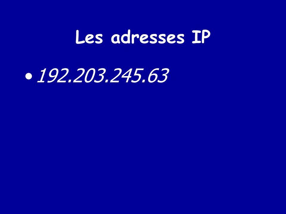 Les adresses électroniques de messagerie ou FQDN ( Fully Qualified Domain Name) nom@organisation.domaine
