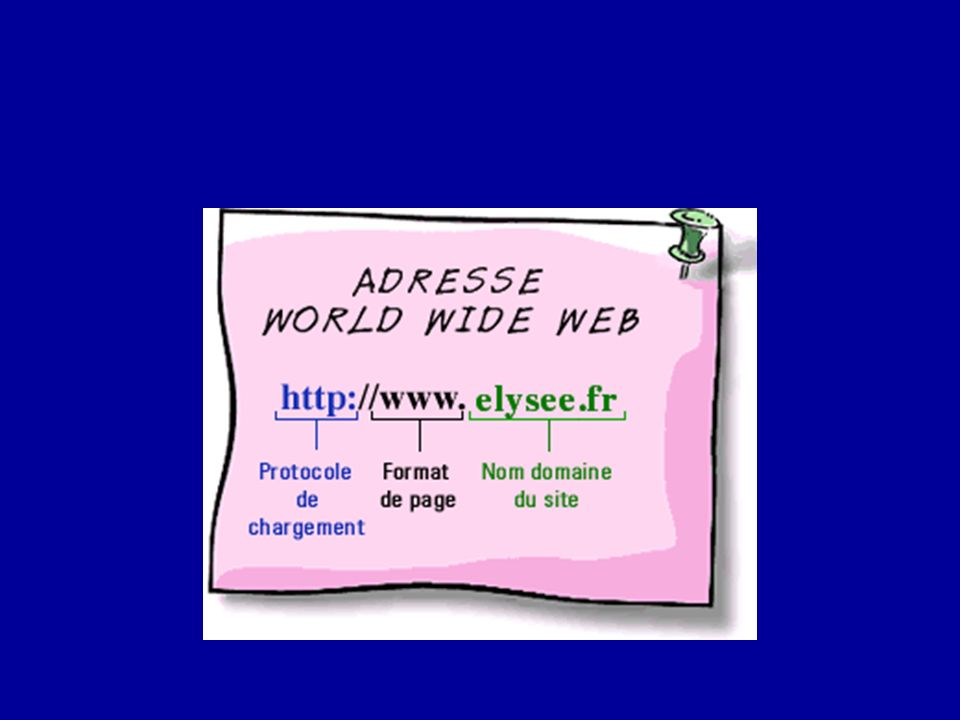 les adresses URL ( Uniform Resource Locator).