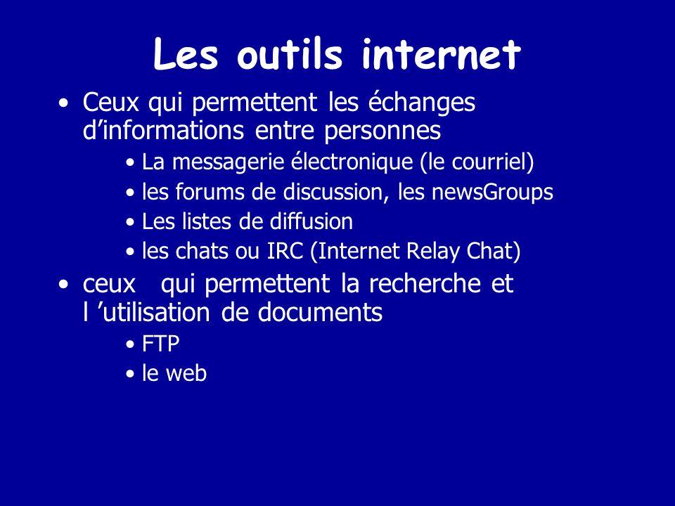 Les outils Internet