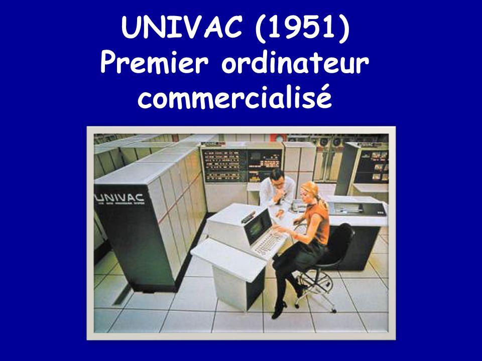 La première génération ENIAC (1946) EDVAC (1947)
