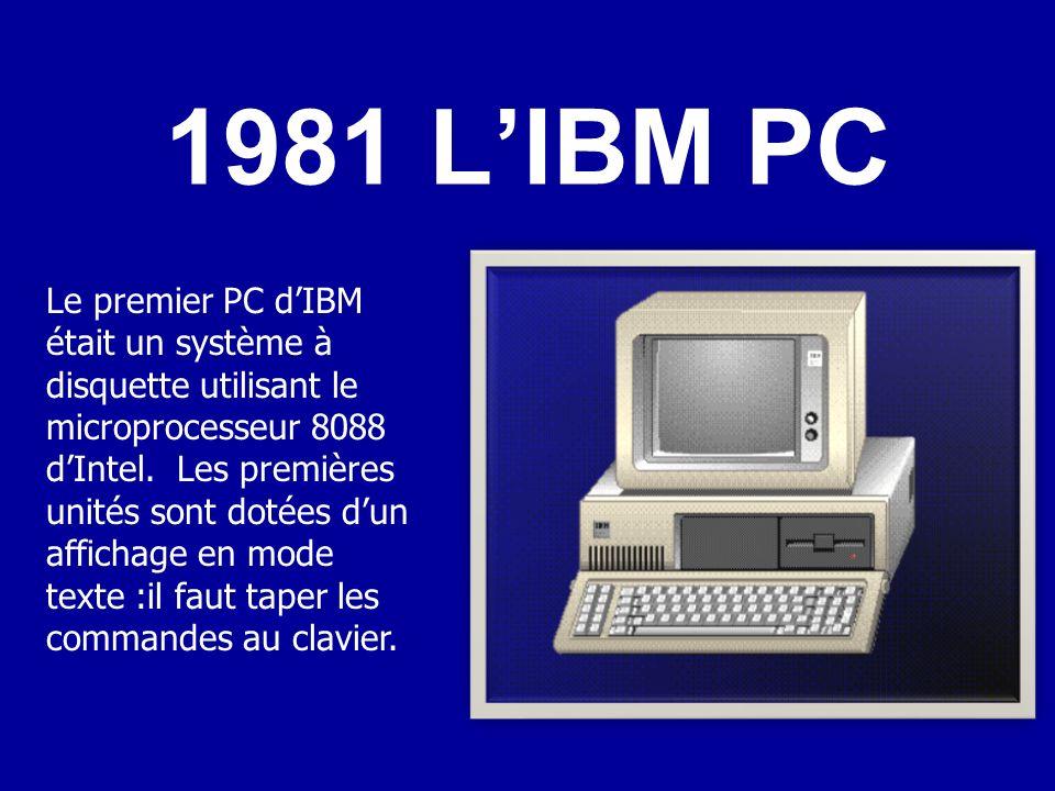 La quatrième génération –Naissance de la micro informatique :