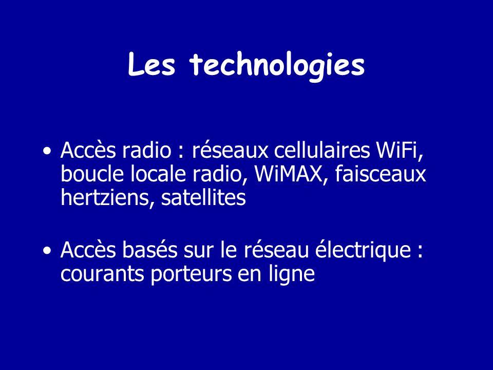 Les technologies Accès basés sur le réseau téléphonique : ADSL ( Abréviation de Asymmetrical Digital Subscriber Line (ligne numérique asymétrique haut débit d abonnés).