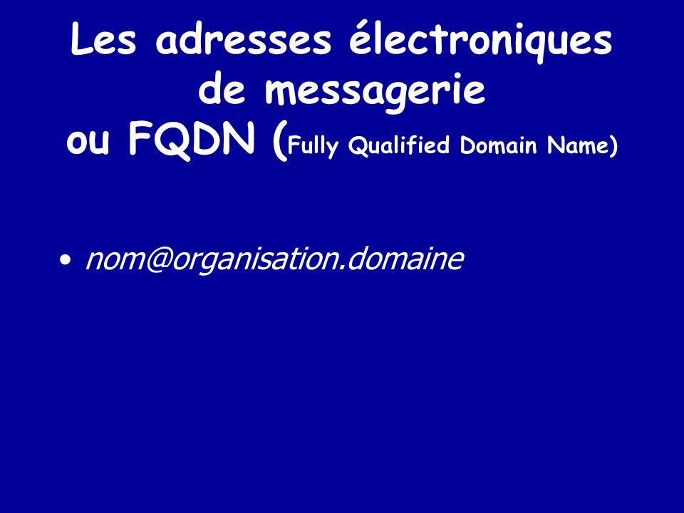 LES ADRESSES L adresse internet son numéro IP Son adresse URL