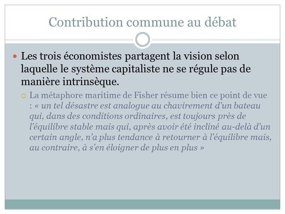 Contribution de Minsky au débat Minsky (1992) décrit une dynamique endogène aux systèmes financiers capitalistes Linnovation et la recherche de profit