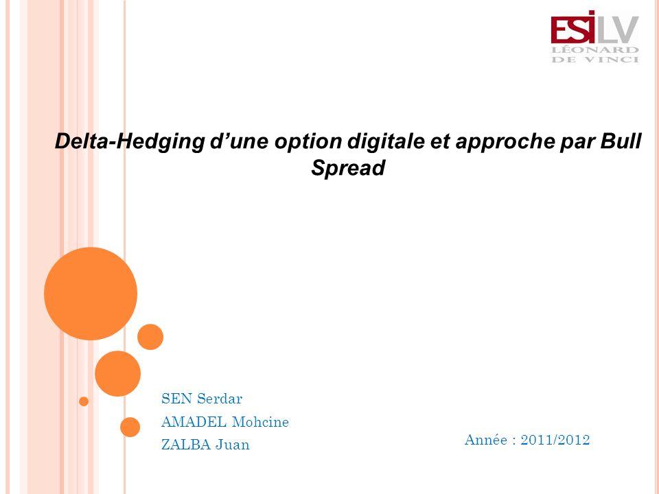 Année : 2011/2012 Delta-Hedging dune option digitale et approche par Bull Spread SEN Serdar AMADEL Mohcine ZALBA Juan