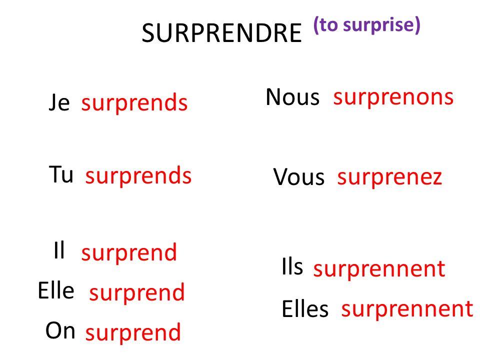 Other irregular verbs 3 e groupe