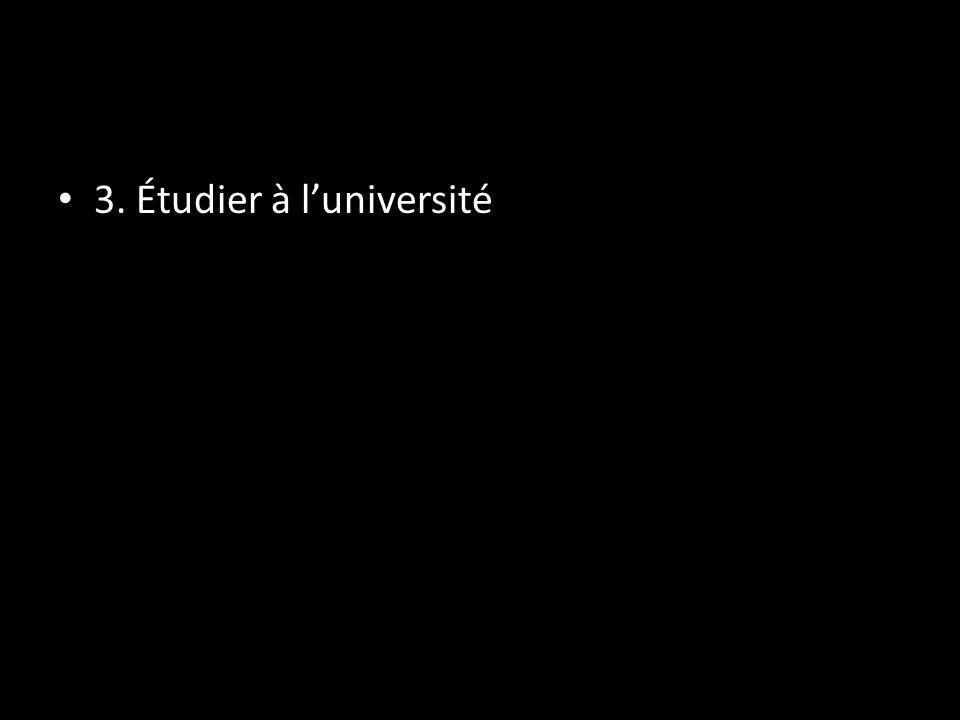 3. Étudier à luniversité