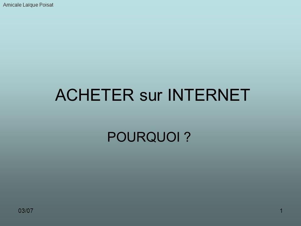 03/071 ACHETER sur INTERNET POURQUOI Amicale Laïque Poisat
