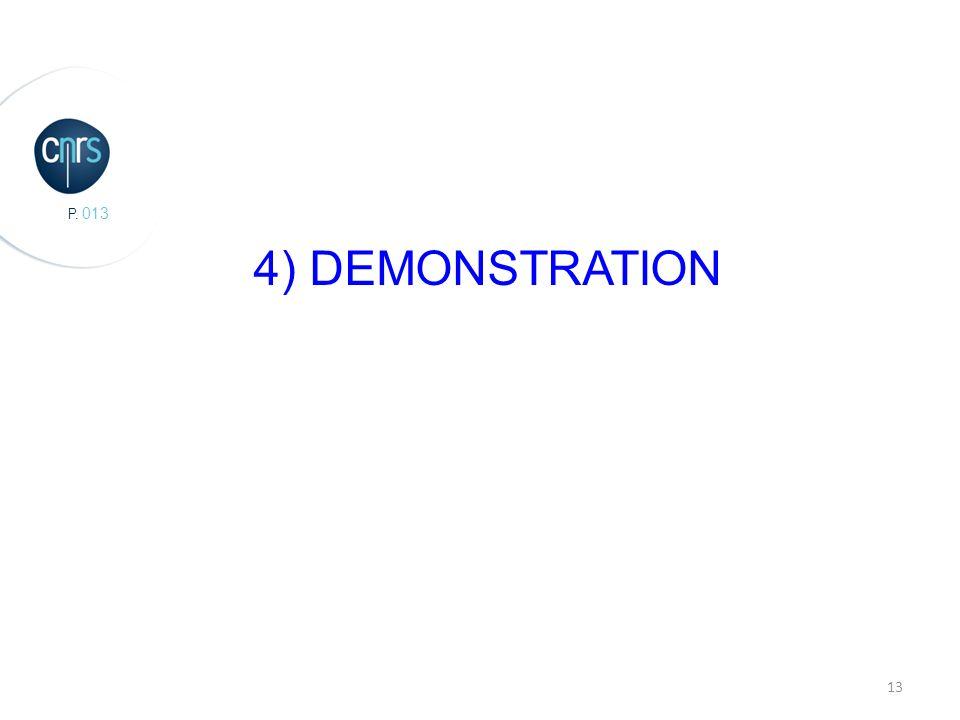 P. 013 13 4) DEMONSTRATION