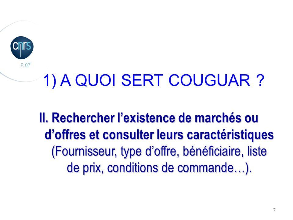 P. 07 7 1) A QUOI SERT COUGUAR . II.