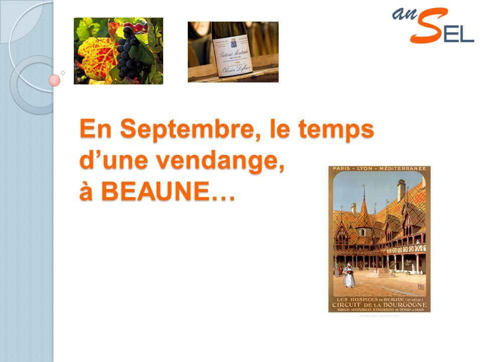 En Septembre, le temps dune vendange, à BEAUNE…