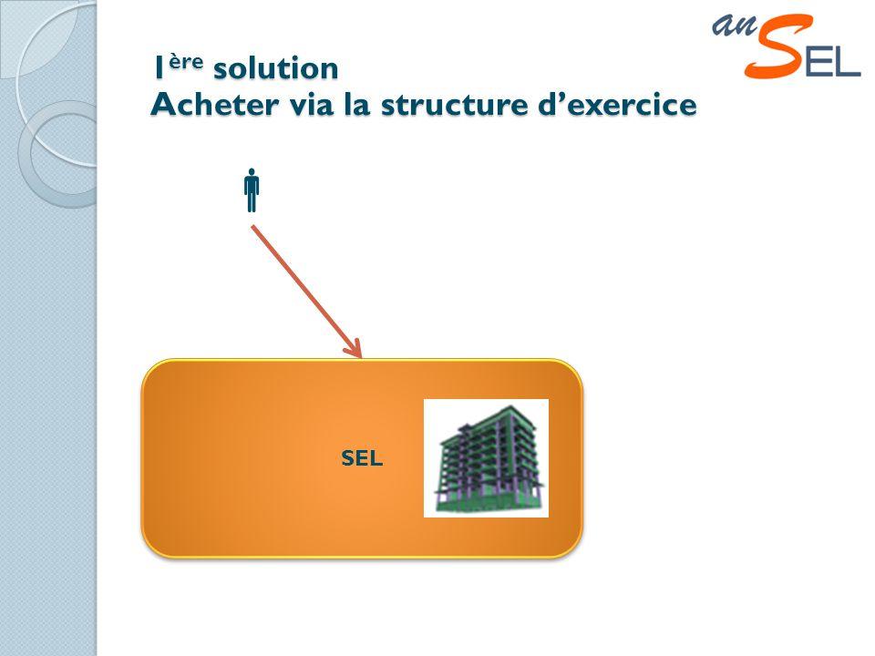 1 ère solution Acheter via la structure dexercice SEL