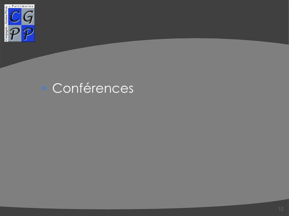 Conférences 10
