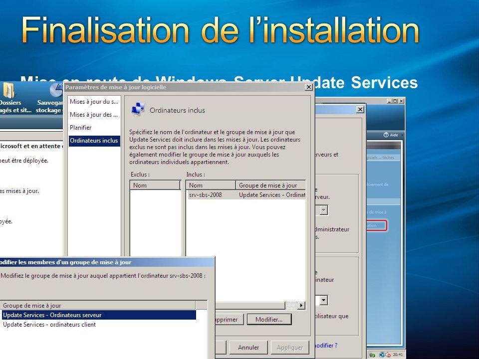 Mise en route de Windows Server Update Services