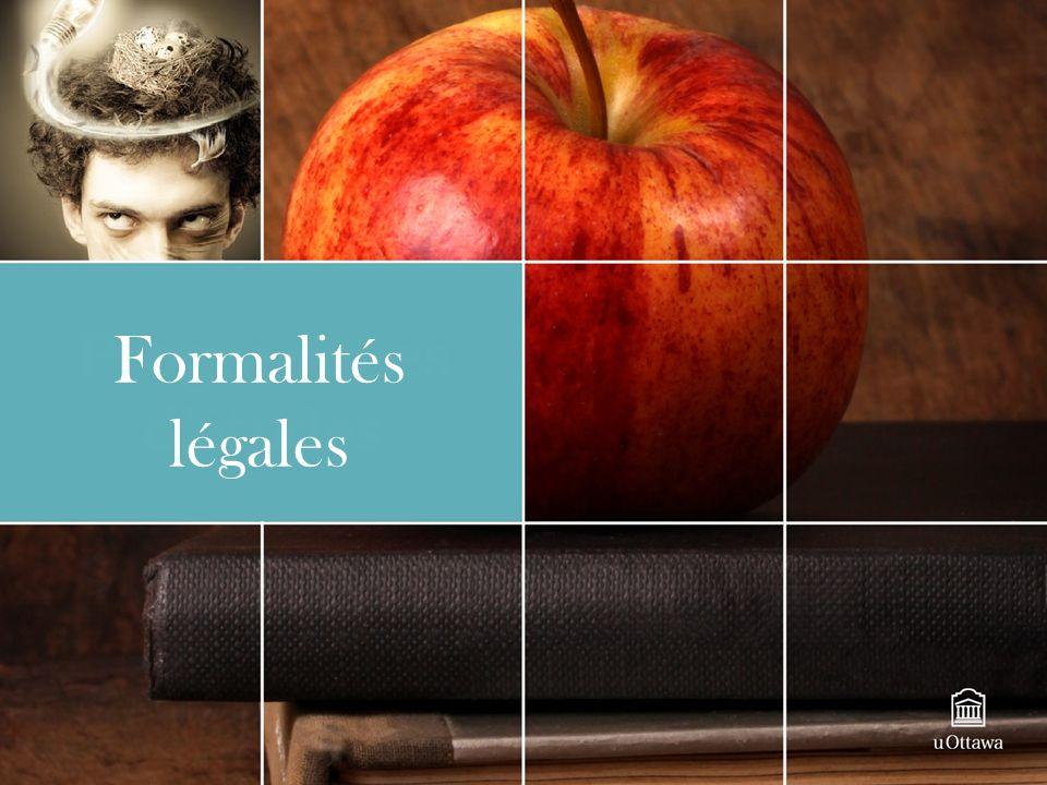 Formalités légales
