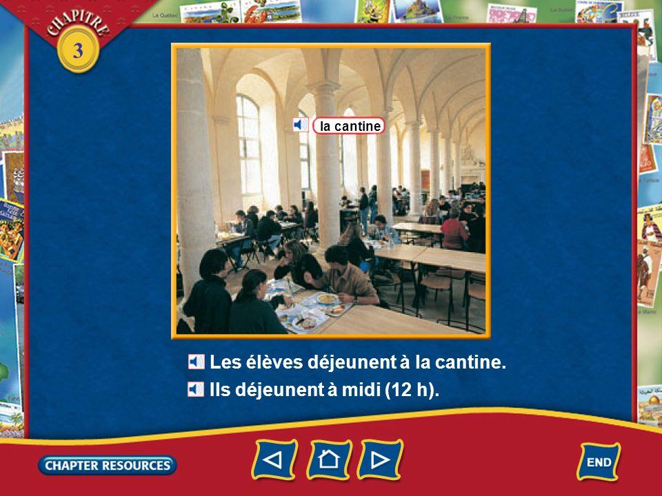 3 1.En France, Cédric arrive à lécole à quelle heure.