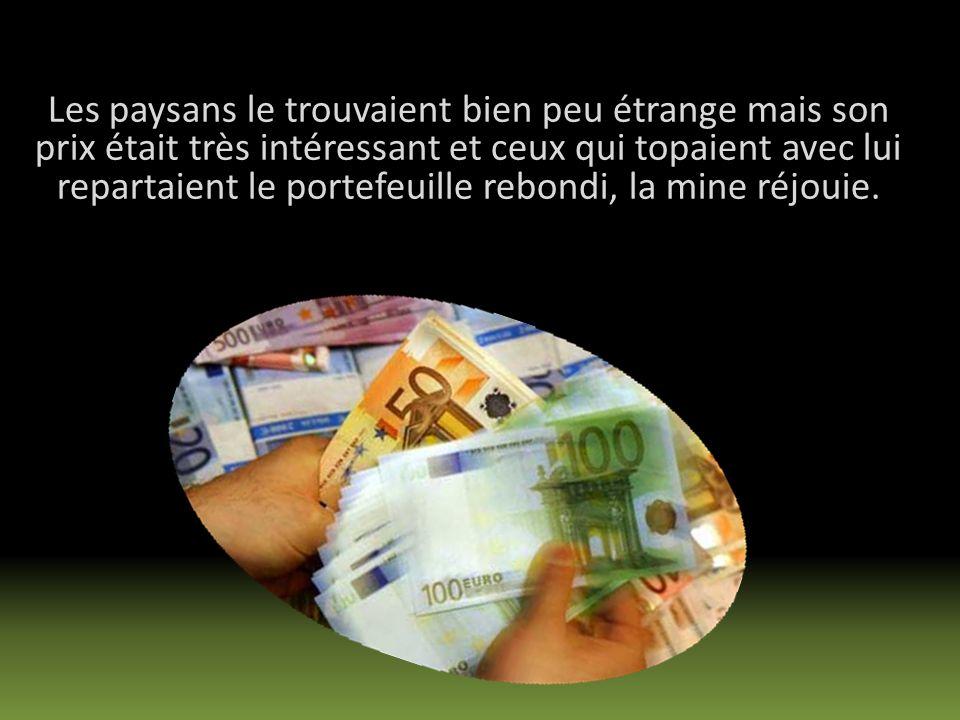 Monté sur une caisse, il cria à qui voulait lentendre quil achèterait cash 100 euros lunité tous les ânes quon lui proposerait.